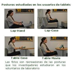 posturas de los usuarios de tablets elbosquenaturalblogspotcom
